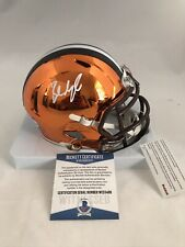 CLEVELAND BROWNS BAKER MAYFIELD signed RIDDELL CHROME SPEED MINI HELMET BECKETT