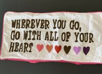 PB Teen Wherever You Go Hearts 12 x 24 Pillow Cover Valentine Decor