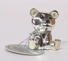 G 4644 Silber Bär Bear Creme Setzkasten Swarovski Glas Kristall Crystal 3,5 cm