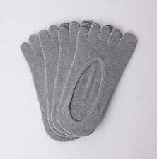 4x Pairs Low Cut 5 Fingers Toe Socks Men in GREY for FILA Skele Shoes noo