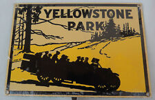Yellowstone Park Porcelain Metal Sign by Ande Rooney Dated 1996 * New Old Stock