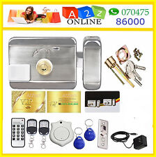 Electric Door Lock With Luxury RFID Cards/Key Fobs & Luxury Wireless Remotes--