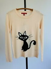 Saks Fifth Avenue Blush Pink Cat Angora Pullover Sweater Top Size Xs Small Nwt