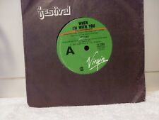 "SPARKS ""When Im with you/Instrumental""7""45rpm Vinyl"