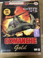 Vintage Comanche Gold Flight Simulator Windows 95 Novalogic PC CD-ROM Open Box
