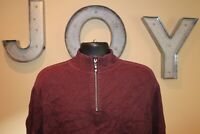 Mens TOMMY BAHAMA Reversible 1/4 Zip Maroon Pullover Sweater : Size Large L