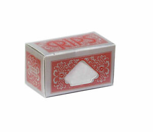 Authentic Full Box of 24 Rolls RIPS Red Regular Size Rolling Paper 37mm Wide