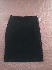 Old Navy Black Jersey Pencil Skirt Size XL New NWT
