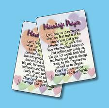 """Marriage Prayer"" - 2 Verse Cards - sku# 534"