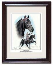 Tennessee Walker walking Horse Art Framed - Midnight Sun - famous stallion