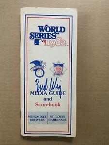 1982 World Series Milwaukee vs St Louis Signed Media Guide by BB HOFer Bud Selig