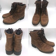 Clarks Orinoco Spice Size 7.5 41.5 Brown Nubuck Lace Up Womens Ankle Boots