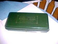 VintageJames Stretch Funeral Home Metal Document Box Haddonfield NJ 1940's