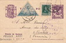 Espagne Censura Militar Bilbao Entier Postal Guerra Civil Spain Cover