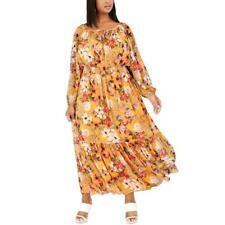 Inc Womens Крестьянская цветочный металлический макси платье плюс bhfo 6580