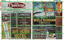 NH011 DAVE'S DECALS 1/2 Set N SCALE GHOST SIGNS SODA HOTEL TOBACCO DRY GOODS
