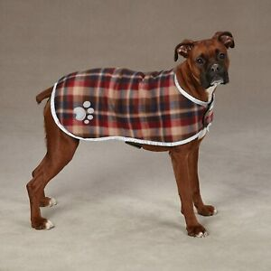 Zack & Zoey Polyester Nor'easter Dog Blanket Coat X-Large Scottish Pattern Green