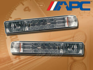 APC LED LOOK SMOKE LENS CORNER SIGNAL LAMP LIGHTS FOR 98-04 CHEVY S10 BLAZER
