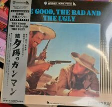 The Good, The Bad And The Ugly - Japanese Laserdisc + OBI - RARE *Sealed*