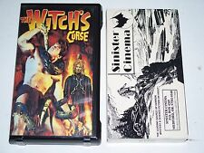 "VHS Movies Sinister Cinema "" The Witch's Curse "" Kirk Morris Horror"