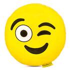 Smiley Kissen Polster ø35cm gelb Plüsch Kuschelkissen 30°C Geschenk