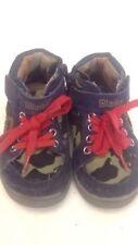 BLAIKE - Scarpe da bambino - colore militare e blu - N° 20 stringhe rosse  USATE