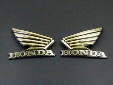 Motorcycle 3D OEM Fuel Gas Tank Emblem 3M Decal Sticker Custom For Honda Wing