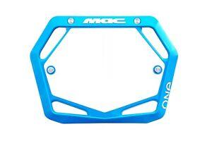 Mac One BMX Number Plate Mini/Cruiser Cyan Blue