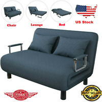 Convertible Sofa Bed Living Room Folding Arm Chair Sleeper Recliner Lounge Couch