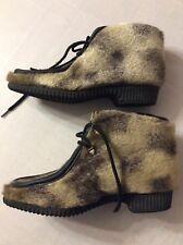Carriboots Womens Snow Animal Print Boots Shoes Winter Vintage Original Box Fur