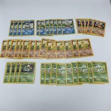 Vintage Pokemon Card Lot Starter Pokemon Base Set Squirtle Charmander Ivysaur
