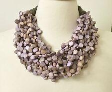 Fabulous Gerda Lynggaard – Monies Style Multi Strands Light Purple Necklace
