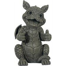 Gartendrachen Daumen hoch  Fantasy Drachenfiguren Drachen Figuren Gargoyle Deko