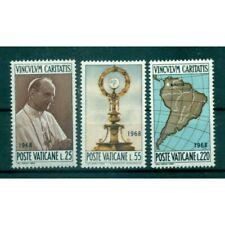 """Vatican 1968 - Mi. n. 538/540 - """"Viaggi del Papa"""" Paul VI"""