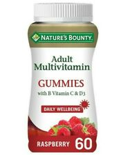 Nature's Bounty Adult Multivitamin Gummies with B and  D3 Vits - Raspberry 60 Pk