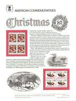 #340 25c Christmas 1989 #2427-2428 USPS Commemorative Stamp Panel