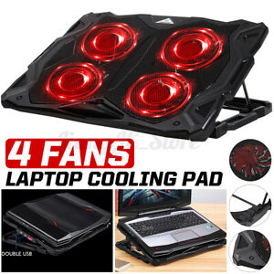 4 Fans Laptop Cooling Pad Cooler Notebook Cool Tablet Stand Rack USB 1100RPM