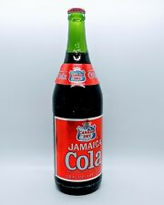 Vintage Canada Dry Jamaica Cola Soda 28 FL OZ Green Glass Bottle Full Unopened