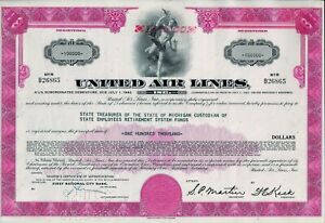 United Air Lines Inc., 1968, 4 1/4% Subordinated Debenture due 1992 (100.000 $)