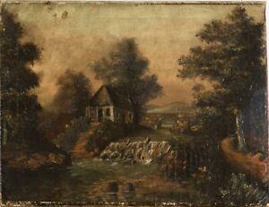 Gemälde Haus am Fluß