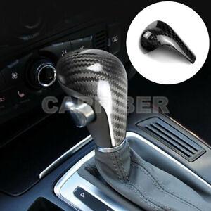 Real Carbon Fiber Console Gear Shift Knob Cover Trim For Audi A4 A5 A6 Q5 Q7