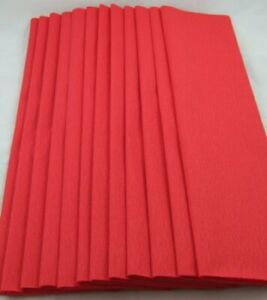 12 Red Crepe Paper Folds, each 150cm x 50cm by shop@clikkabox