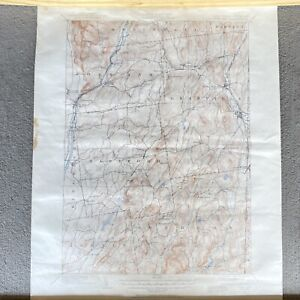 1893 Fort Ann Quadrangle New York Vermont Vintage USGS Topographic Topo Map