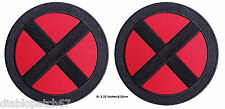 Set of 2 X-men Storm Red/black X Applique Costume Cosplay Patches