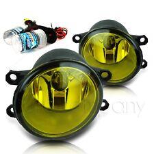 Avalon Highlander Solara Yaris Prius Replacement Fog Lamps w/HID Kit - Amber