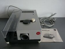 Leitz Pradolux Dia Slide Projector 1:2,8 100mm Works Custom Wooden Case Mint!