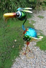 Paradiesvogel 60 cm Metall Gartenfigur Gartendeko Metallfigur Vogel handarbeit