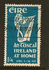 IRELAND: 1953 'An Tostal ' 1/4d blue   SG 155 used