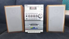 LG STEREO SYSTEM CASSETTE TAPE PLAYER TAPE DECK RADIO MP3 SPEAKERS