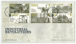 UK 2021 Industrial Revolutions 6-Stamp Set On First Day Cover With Info Card